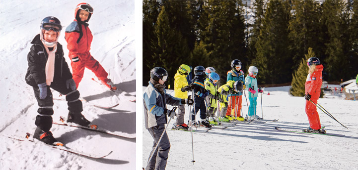 Skischule damals und heute
