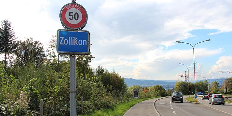 Zollikons Nord-West-Grenze entlang