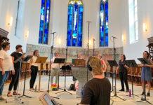 Aufnahmen für die CD der Swiss Gospel Singers in der reformierten Kirche Küsnacht