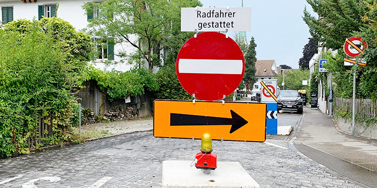 Verkehrsanordnung wegen gedrängtem Bauprogramm