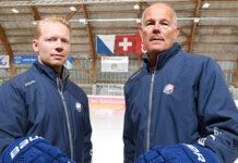 Das Trainerduo Michael Liniger (links) und Peter Andersson betreut die GCK Lions schon die dritte Saison. (Bild: zvg)